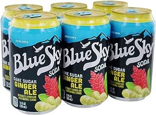 Blue Sky - Cane Sugar Soda Ginger Ale - 6 Pack