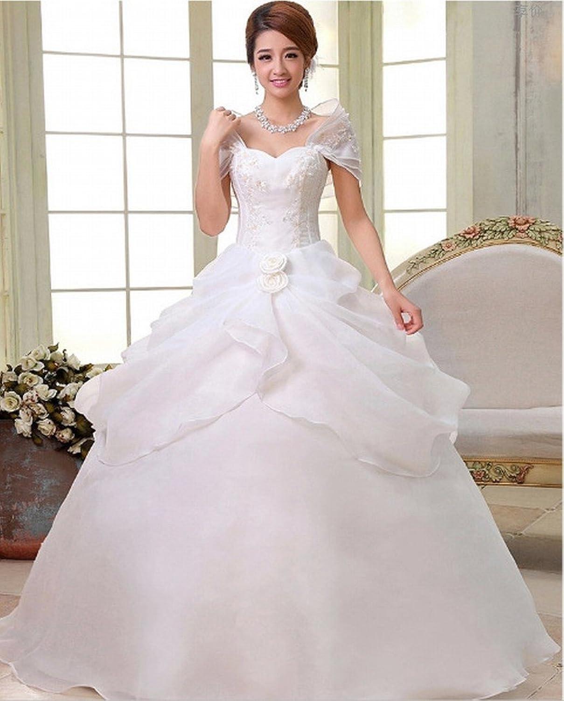 DIDIDD Modern Wedding Dress Bride Wedding Dress Shoulder Thin Dress Dress Lace Wedding Dress