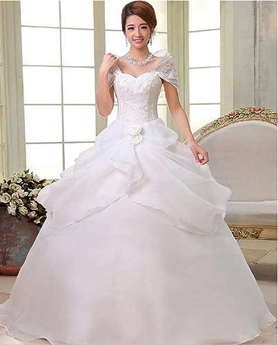 DRESS Robe de Mariage Moderne Robe de Mariée Robe épaule Robe de Mariée Robe de Mariée en Dentelle,B,S