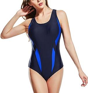 Zhhlaixing 競泳水着 レディース フィットネス Ladies Sport Racerback Swimsuits Swimwear Anti-UV Training Pro Athletic Bathing Suit