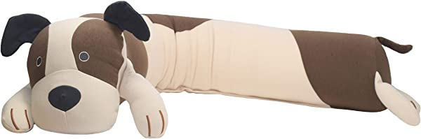 Yogibo Mates Roll Pillow Comfortable Cylindrical Pillow W Patented Fibead Filling Removable Machine Washable Cotton Spandex Cover Perfect To Cuddle Amazing Neck Back Support Dog