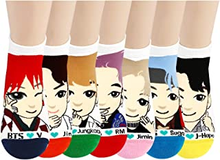 BTS Kpop Star Character Low Ankle Socks for Girls