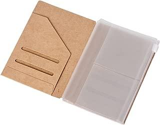 (Set of 2) Zipper Case & Kraft Folder Refill Inserts for Passport Size Travelers Notebook