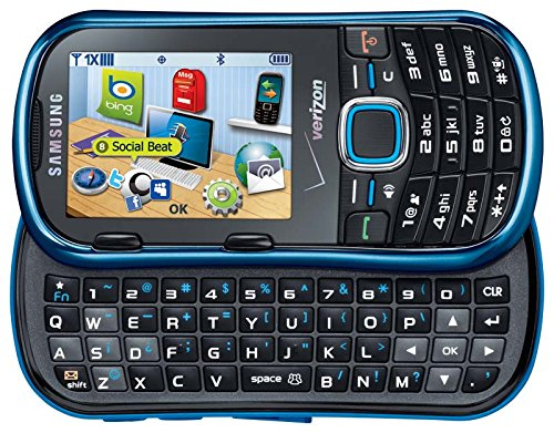 VERIZON WIRELESS CELL PHONE SAMSUNG U460 INTENSITY II METALLIC BLUE PHONE NO CONTRACT REQUIRED WORKS ON VERIZON WIRELESS OR PAGE PLUS NETWORK ONLY