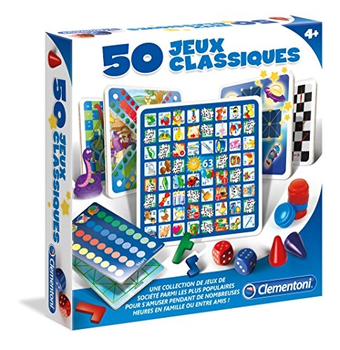 Clementoni - 52165-50 jeux classiques-JEUX DE SOCIETE