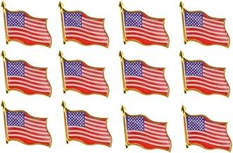 Rantanto American Flag Lapel Pin Jewlery United States Waving Flag Pins