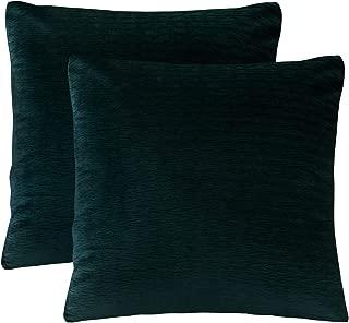 PHF Velvet Wrinkled Euro Sham Cover for Winter Pack of 2 Throw Pillow Cover Home Decor 26