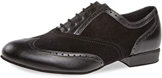 Diamant Uomini Scarpe da Ballo 177-025-070 - Scamosciata/Pelle Nero - Comfort (Largo) - 2 cm Standard - Made in Germany