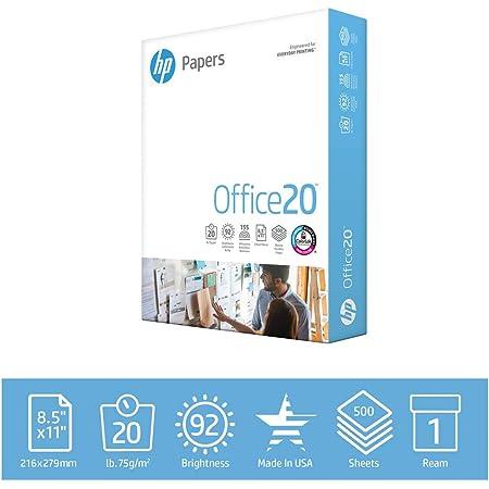 HP Printer Paper 8.5 x 11 | 20 lb - 1 ream - 500 Sheets | 92 Bright - Made in USA | FSC Certified Copy Paper | HP Compatible 172160R
