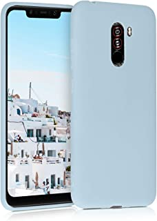 kwmobile TPU Case for Xiaomi Pocophone F1 - Soft Flexible Shock Absorbent Protective Phone Cover - Light Blue Matte