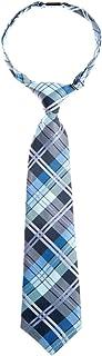 ربطة عنق للأولاد من Retreez Elegant Tartan Plaid Check Woven من الألياف الدقيقة مسبقة الربط