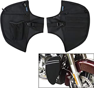 AUFER Motorcycle Highway crash bar Cover Soft Lowers Chaps Leg Warmer bag Multifunctional storage bag for Touring Street Glide Road King Road Glide Electra Glide and Trike Models 1980-2020