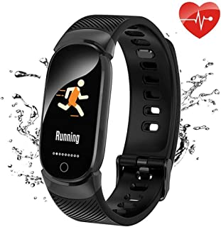 QWMoonRu Upgrade Fitness Tracker HR, Waterproof Heart Rate Monitor Blood Pressure Blood Oxygen, Color Screen Activity Tracker Watch with Pedometer Sleep Monitor Smart Watch for Men Women and Kids