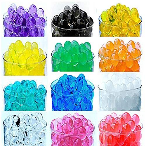 12 Pack Combo Sooper Beads Decoration Vase Filler - Water Beads Gel - 12 Colors - 5 Grams per Pack Make Over a Quart per Pack - Wedding Decoration Vase Filler - Furniture Decorative Vase Filler