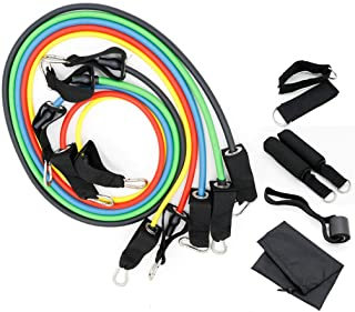 11Pcs Set Exercise Resistance Bands Heavy Fitness Tube Home Gym Strength Training,5 Fitness Stackable Workout Tubes Up to ...