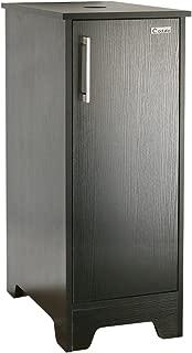 eclife 14'' Bathroom Vanity for Small Space, MDF Made Modern Pedestal Cabinet Set with Adjustable Built-in Clapboard & Soft Closing Door Design B08 (Black)