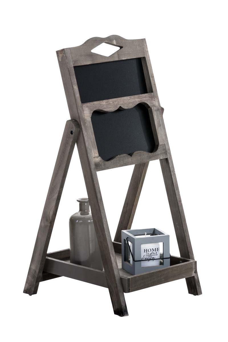 CLP Expositor Estantería Tipo Escalera Patrick I Mueble Decorativo con Pizarra & un Estante I Estantería Escalera Plegable I Color: Marrón Oscuro: Amazon.es: Hogar