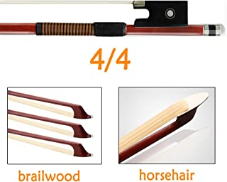 4/4 Violin Bow with Mongolian Horse Hair and Brazilwood