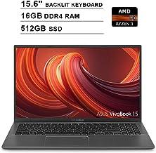 2020 ASUS VivoBook 15 15.6 Inch FHD 1080P Laptop (AMD Ryzen 3 3200U up to 3.5GHz, 16GB DDR4 RAM, 512GB SSD, AMD Radeon Veg...