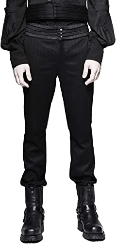 Punk Rave Men's schwarz Gentleman Steampunk Gothic Casual Striped Pants