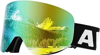 Awenia Gafas de Esquí Antivaho Gafas de Snowboard Magnéticas Desmontables OTG, Protección UV400, para Hombres Mujeres Adultos Jóvenes