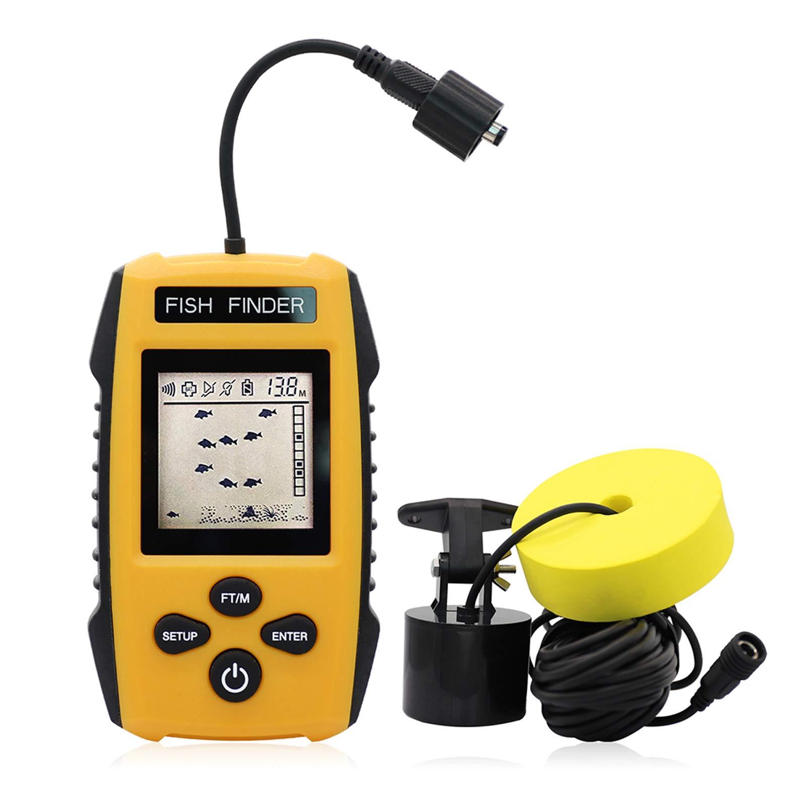 Alarm Sonar Echolot Alarm Portable RP Wireless Fish Finder Unterwasser 40M