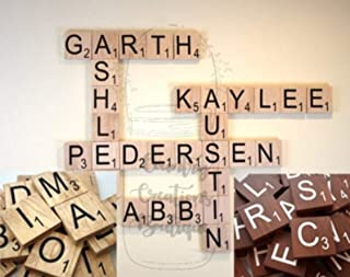 Scrabble 4 x 4 Tiles, Wooden Wall Ready to Hang Tiles, Wall Decor, Farmhouse Style, Scrabble Pieces, Personalized Sign, Wooden Letters