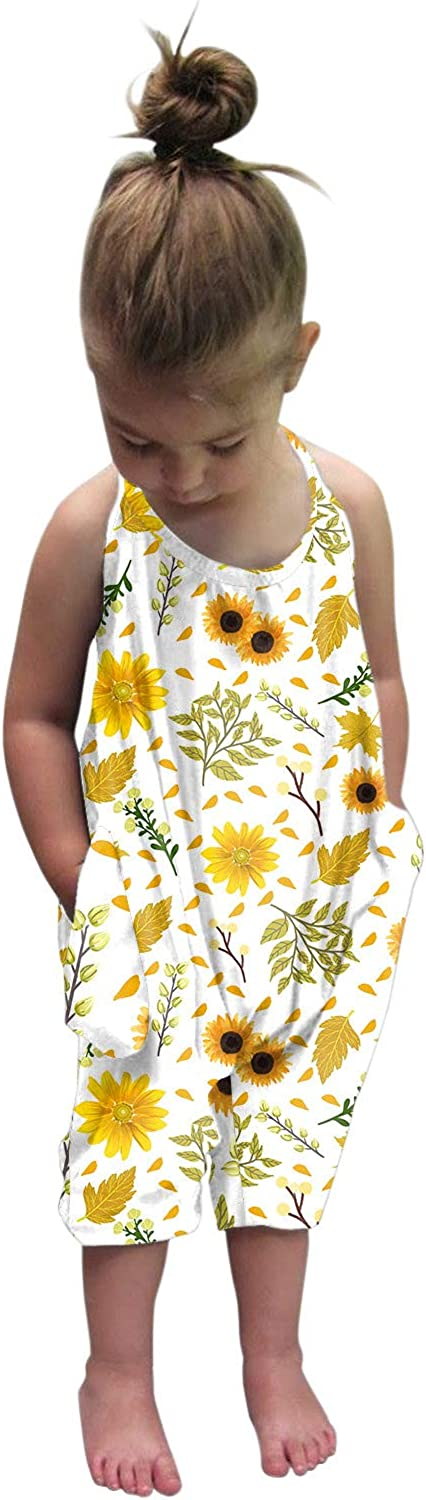 SanF Baby Jumpsuit with Pockets Harem Summer Casual Childrens Some reservation Ro 25% OFF