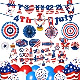 Best FOR PATRIOTIC THEME PARTY:This 4th of July Party Decorations will make everyone scream! This cool and practical Independence Day party kit is enough to provide you with the necessities, and immersing your guests into an unforgettable experience ...