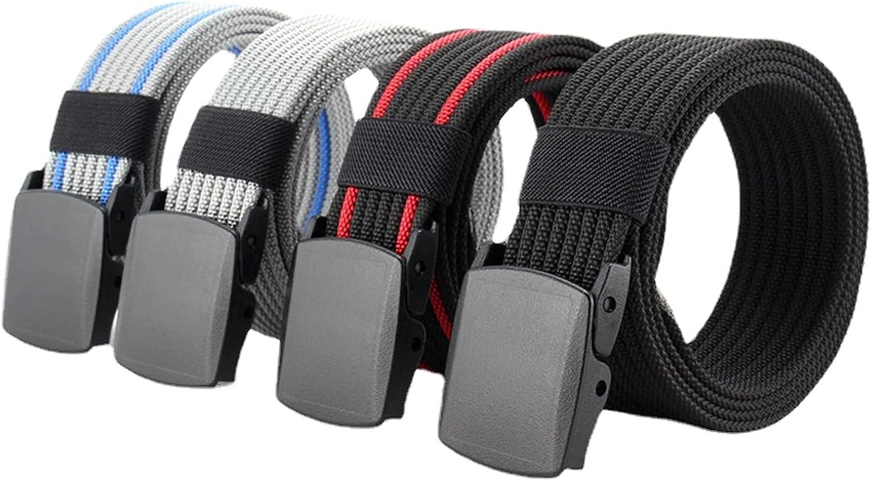 Canvas belt men's belt smooth buckle nylon belt