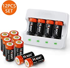 CR123A Rechargeable Batteries, Lithium-ion Battery & Charger 3.7V 700mAh (12 Pack) for Arlo VMS 3030/3230/3330/3430 for Reolink Argus for Olight S1 Mini / PL2 / M2T for Fenix PD35