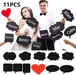 Cabina de fotos de Photo Booth Puntales de bricolaje de gran tamaño de 11 piezas de la cabina de foto del partido de los apoyos de la boda con pinchos para el cumpleaños reencuentro boda BizoeRade