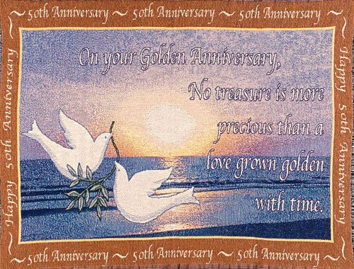 Golden Anniversary Sofa Throw Blanket