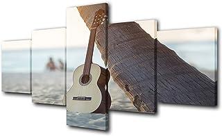 "TUMOVO 5 Piece- Guitar Paintings HD Prints on Canvas, Artwork-10, 50""X24"""