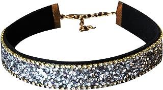 Qinlee Retro Halskette Choker Flanell Necklace Punk-Stil Kropfband Hochzeiten Bankette Party Mode Geschenk für Damen Mädchen