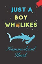 Just A Boy Who Likes Hammerhead Shark: Hammerhead Shark Gifts Lined Notebook for Boys, Male & Kids