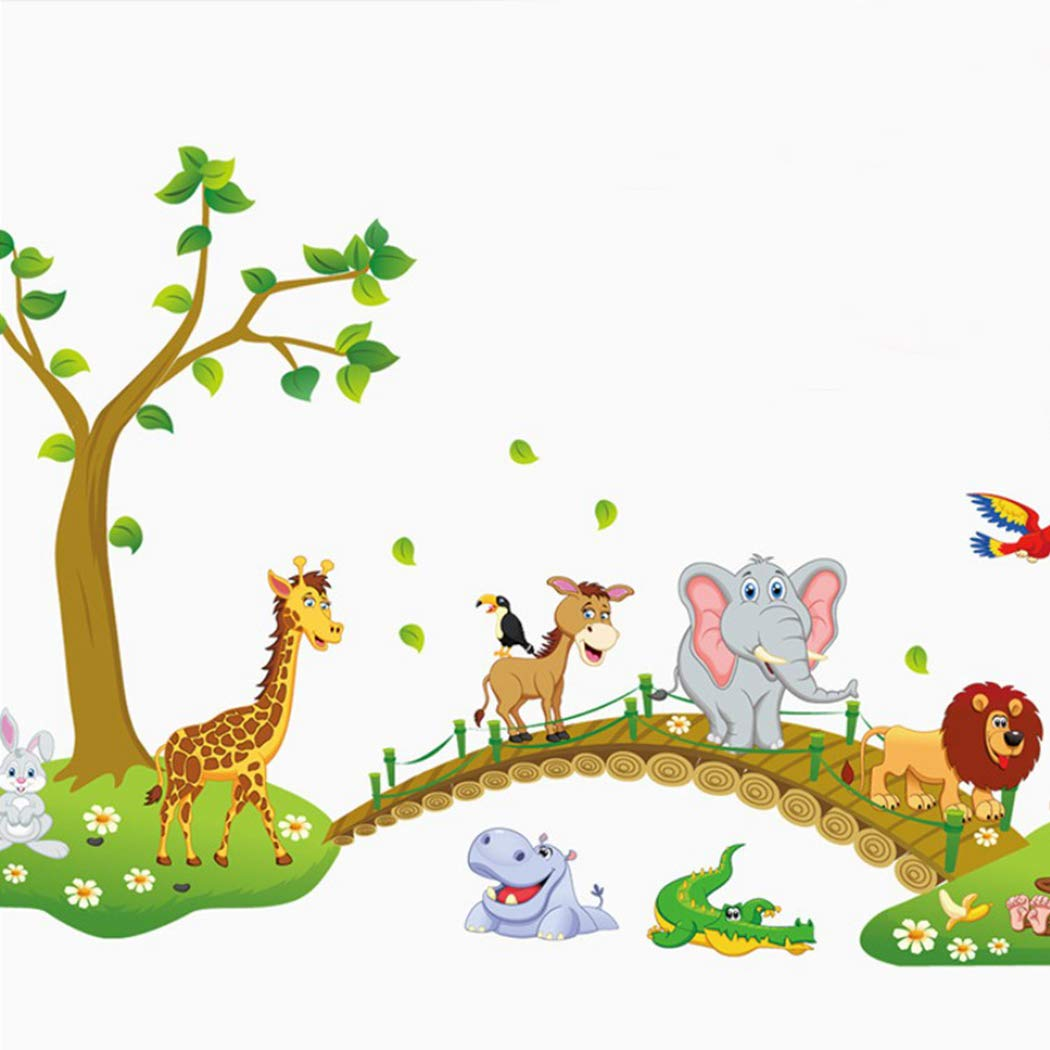 Justdolife Etiqueta De La Pared ÁRbol Animal Mural DecoracióN De Pared para JardíN De Infantes: Amazon.es: Hogar