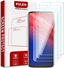 Pulen [3-Pack] for Motorola Moto Z4 Screen Protector,[2.5D Round Edge] [9H Hardness] [High Definition] [Bubble Free] Tempered Glass Screen Protector
