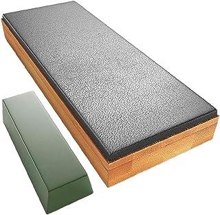 Ensemble de pierre d'affûtage complets de cuir de cuir en cuir avec outil à commande manuelle