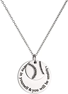 LIUANAN Basketball Athletes Pendant Necklace for Teens Girls Boys Men Inspirational Sport Jewelry Gift Believe in Yourself...