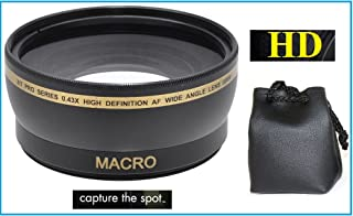 0.43x Pro Hi Def Wide Angle with Macro Lens for Canon EOS Rebel SL3 (58mm Compatible)