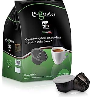 96 Capsules Pop café e-gusto mélange 2 creméux compatibles machine à cafè Nescafe 'Dolce Gusto