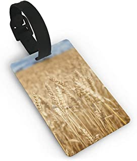 CoolToiletLidCoverCC Golden Wheat Field Luggage Tags Label Cruise Instrument Bag Case Tags Size 2.2 X 3.7 inches