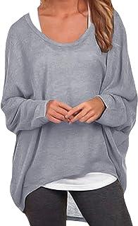 ZANZEA Sexy Women Loose Solid Irregular Long Sleeve Baggy Ju