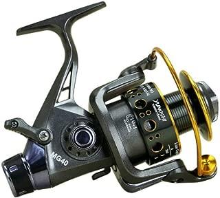 DSstyles Diseño de Doble Freno Carrete de Pesca Alimentador de Pesca de Carpa súper Fuerte Tipo de Carrete Giratorio Carrete de Pesca MG30-60