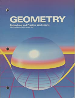 Geometry (Reteaching and Practice Worksheets, Blackline Masters with Answer Key)