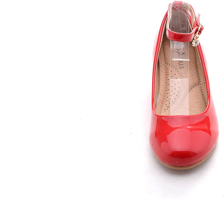 Mila Girls Litte Girls Low Wedges Pumps shoes (Jodie-3)