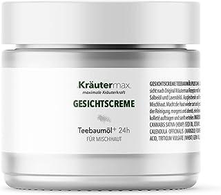 Teebaumöl Gesicht Creme Teebaum Gesichtscreme Naturkosmetik für Mischhaut 1 x 50 ml