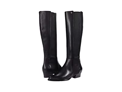 Cole Haan Hallee Stretch Boot (45 mm) (Black Princess/Tonal Stretch Woven Gore/Black Stack) Women