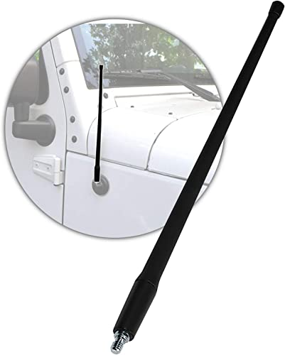 """discount Radio Antenna Mast sale Compatible with 2007-2021 Jeep Wrangler -AM FM Signal new arrival -Flexible Rubber 13"""" Inch Replacement online"""